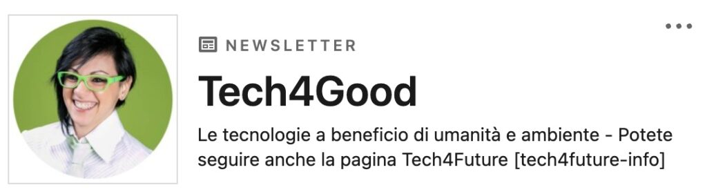 Tech4Good - Newsletter LinkedIn